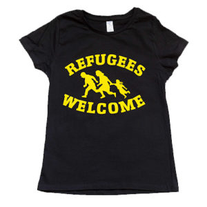 camiseta welcome refugees